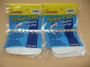 Felt Tongue Pads Shoe Inserts Cushions Pads Shoe Tightening Pad X LARGE 2 pr 4