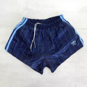 En Herbe Adidas Vintage Short Glanz Sprinter Nylon Shiny Hose Retro Blue