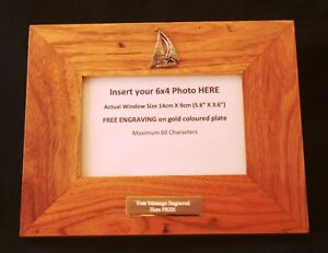 Yacht-Wooden-Oak-Wooden-Photo-Frame-6-x-4-FREE-Engraving-Sailing-Gift-405