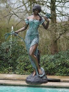 Bronzefigurenstatuengartenfigurdekorgartenspringbrunnen