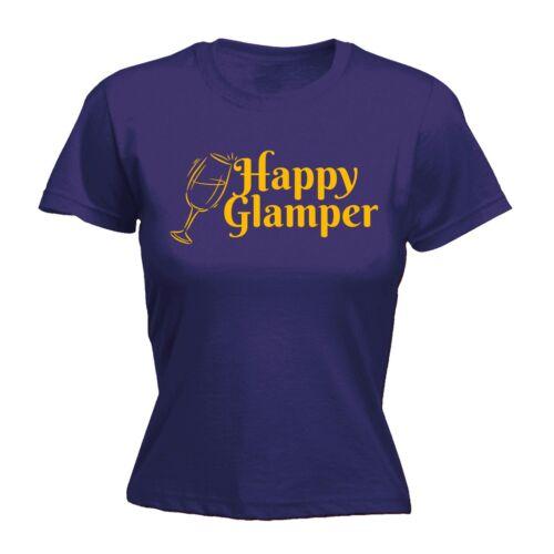 Happy glamper Drôle Blague Humour Comédie Ajusté T-Chemise Anniversaire Cadeau Cool