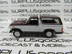 Racing-Champions-1-64-LOOSE-Collectible-Maroon-amp-White-1980-FORD-BRONCO-4X4-SUV