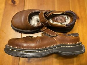 Born-Mary-Jane-Strap-Womens-Size-6-Brown-Leather-Comfort-Shoes
