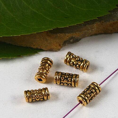 50pcs dark gold tone tube spacer bead h3022