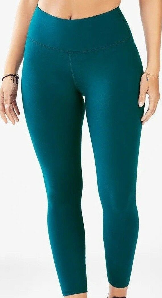 NEW  FABLETICS Wouomo 'POWERHOLD' HIGH WAIST SOLID Emerald  LEGGINGS  2X