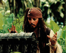 Johnny DEPP Signed Autograph 10x8 Pirates of the Caribbean Photo AFTAL COA