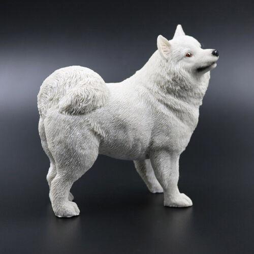 Resin MINI Samoyed Dog Hand Painted simulation model Statue Pet Lovers Gift