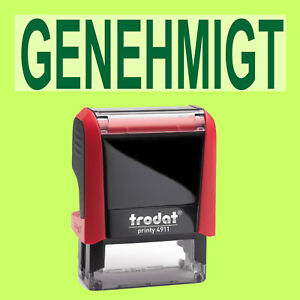 GENEHMIGT Trodat Printy Rot 4911 Büro Stempel Kissen grün