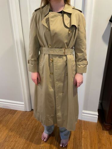 Vintage Burberry Womens Trench Coat
