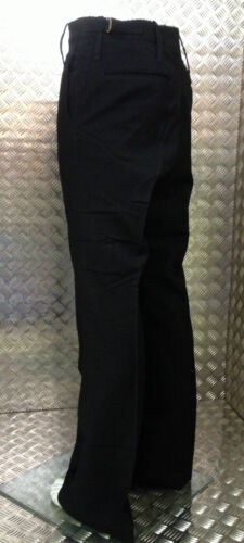 British Royal Navy RN Class II Black Flared Bell Bottom Sailors Trouser