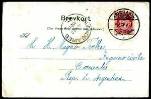 NORWAY-TO-ARGENTINA-Circulated-Postcard-1901-VF