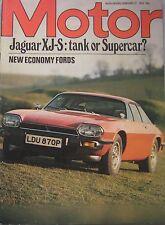Motor magazine 21/2/1976 featuring Jaguar XJ-S road test, Toyota Celica ST