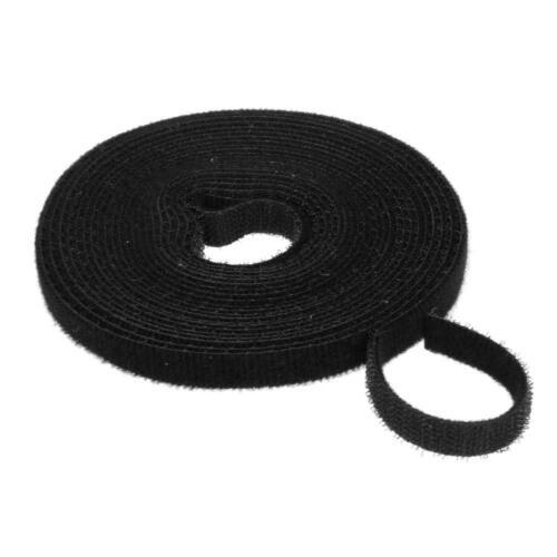 1 Roll 1cm x 5m Nylon Strong Self Adhesive Hook Loop Fastener Tape Sticky WT7n