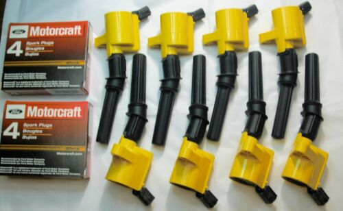 2003 FORD F150 4.6L ALL 8 IGNITION COIL DG508y /& 8 MOTORCRAFT PLUGS SP479 NEW