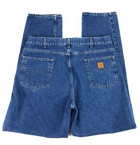 Relaxed Bleu Conique Jambe Homme Carhartt B17dst 100 40x34 Coton Jeans Coupe E8q4Fn1