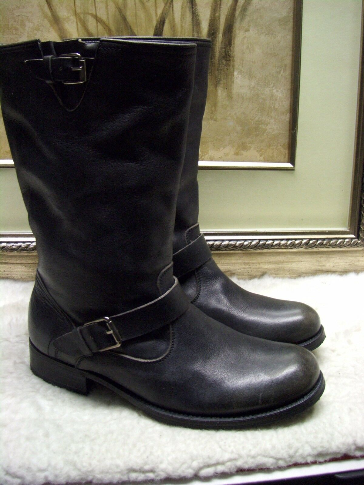 Authentic N.D.C MADE BY HAND Buckle-Strap Biker Boots 40 $695