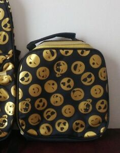 32f6b25773a1 The Children s Place Kids Girls Foil Emoji Face Print Lunch Box Bag ...
