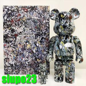 100/% NERO VER 2.0 BEARBRICK Set Medicom 2018 Be@rbrick Jackson Pollock 400/%