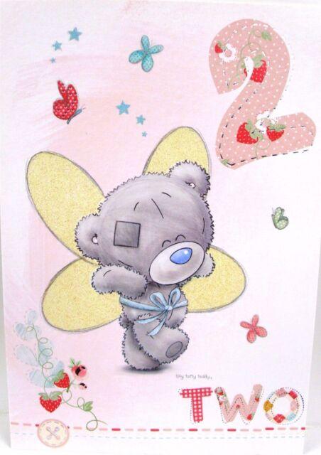 Me To You Tatty Teddy Bear Girls Patchwork 2nd Birthday Card