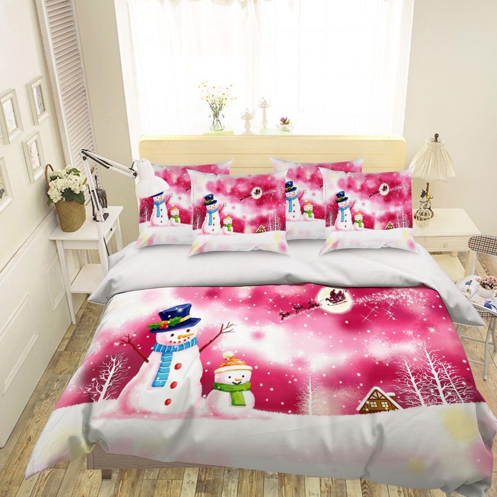 3d Natale 338 LETTO FEDERE steppe duvet set soffitto single regina de