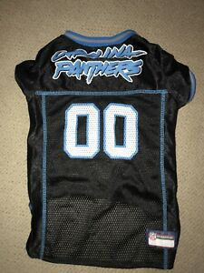 "detailed look 0182d f53c2 NFL Official Carolina Panthers Pet Dog Jersey Large L 20""-24 ..."