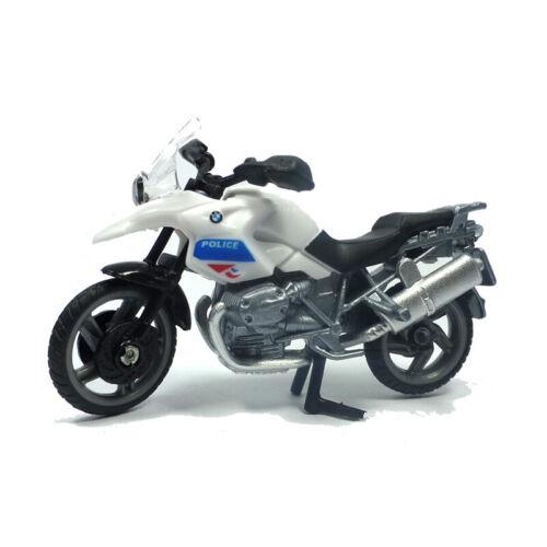 "Siku 1049 BMW r1200 GS MOTO /""POLICE/""/"" BIANCO//BLU BLISTER ° NUOVO"