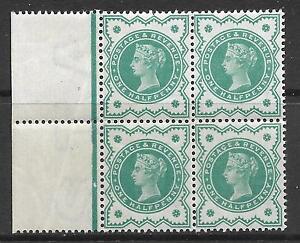 SG 213 Spec K28(2) ½d Bright Blue Green Jubilee blk of 4 UNMOUNTED MINT