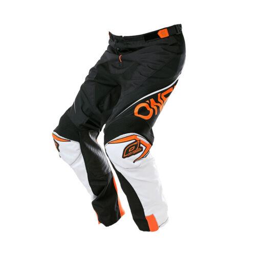 O /'Neal Mayhem Lite MX DH MTB Pant Pantaloni Lang Bloccante Nero//Bianco//Arancione 2018 One