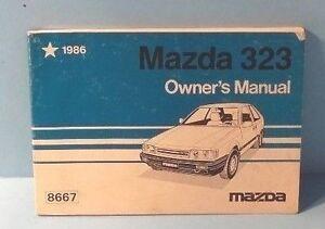 86 1986 mazda 323 owners manual ebay rh ebay ie mazda 323 gtx service manual mazda 323 gtx service manual