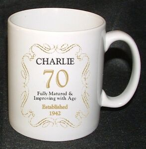 Image Is Loading PERSONALISED 70 70th BIRTHDAY MUG GIFT BORN IN
