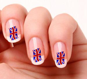 20 Nail Art Decals Transfers Stickers 92 Union Jack British