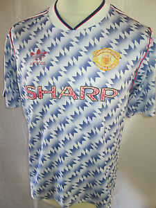 25fc84df575 Manchester United Man Utd 1990-1992 Away Football Shirt Size Adult ...