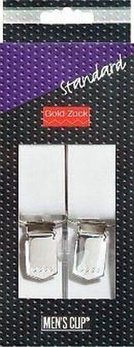 PRYM  Hosenträger Standard uni weiß XL 30 mm//125 cm Goldzack 944010