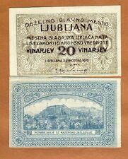 Slovenia, Ljubljana, 20 Vinarjev, 1919, aUNC