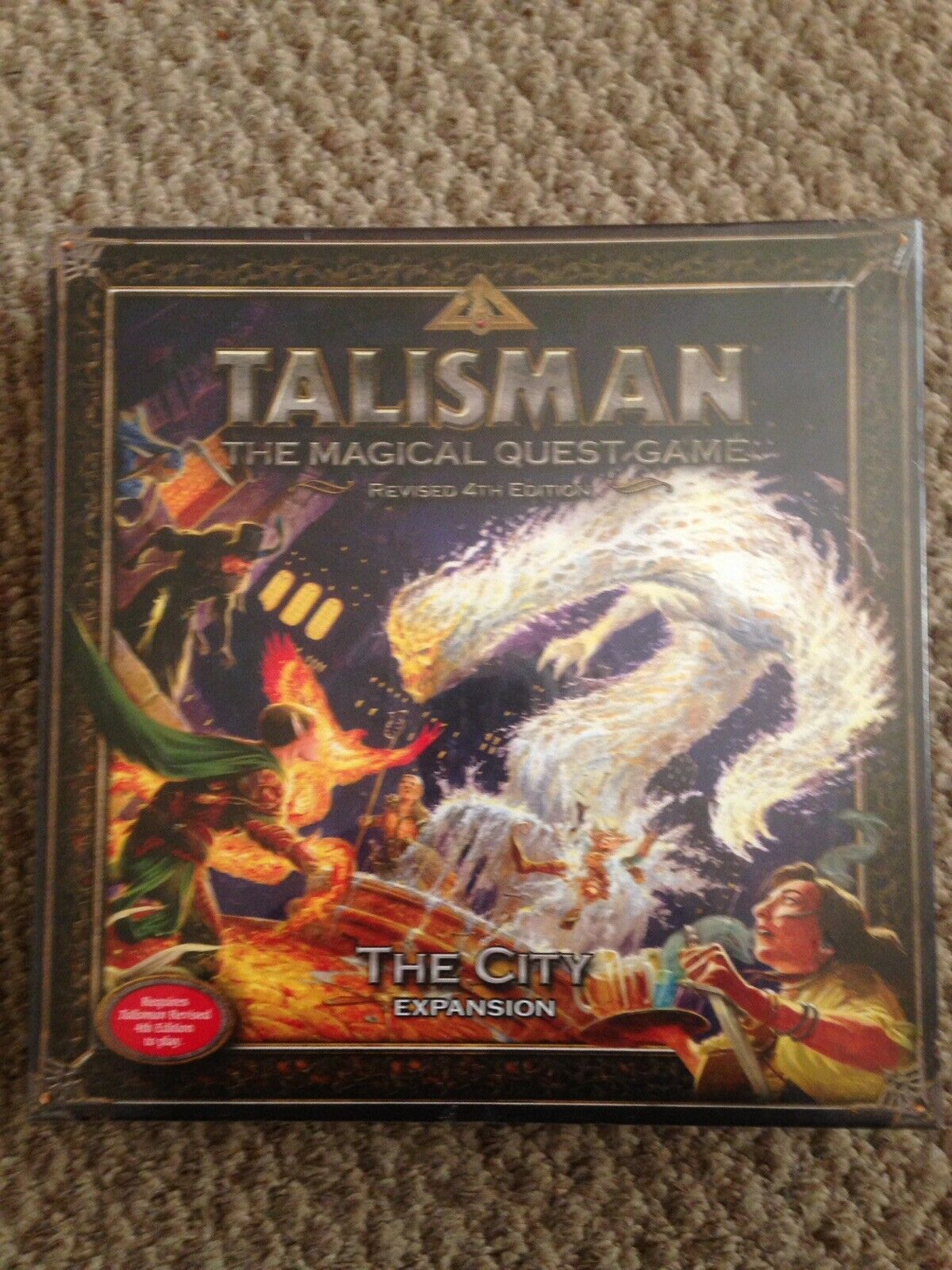 Games Workshop Talisman The City Expansion Magical Quest Game STILL SEALED