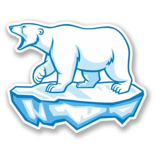 2 x Polar Bear Vinyl Sticker Laptop Travel Luggage Car #5624