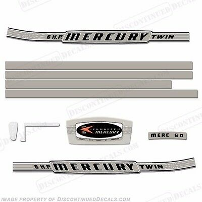 Reproduction Decals In Stock! Mercury 1964 3.9hp Outboard Decal Kit