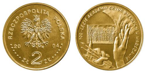 "Poland 2004-2 zlotych /""100th Anni of Foundation of Fine Arts Academy/"" UNC"