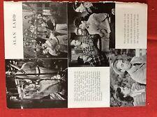 m2v ephemera 1950s film picture article alan ladd