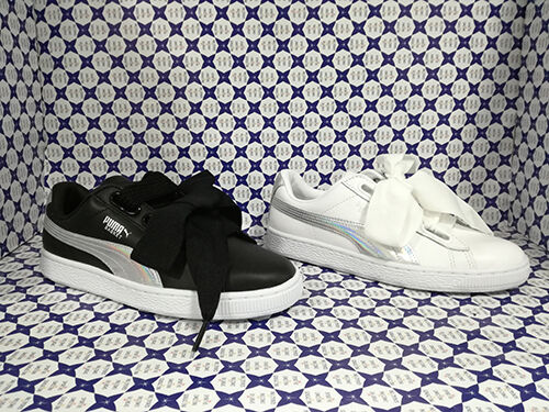 Puma chaussures femmes SCONTATE   Basket Heart Explosive 363626 Bianco - noir