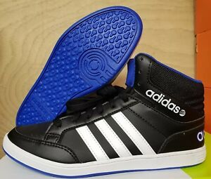2afe60c7a44 Adidas NEO Hoops Boys Mid Boots Hi Top Trainers UK 4.5 5 & 5.5 ...
