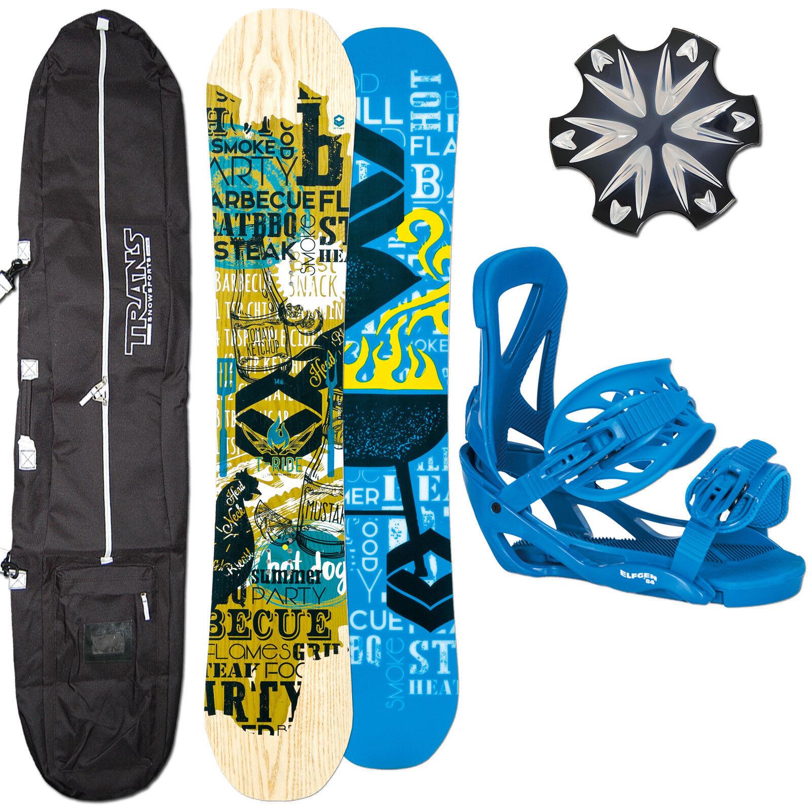 Uomo Camber Snowboard Ftwo TRide 162 cm Ampio 2018  Elfgen Attac  Erl L