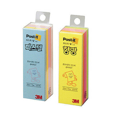 "2 PACK x 3M Post-it CU-13 1x3"" 25x76mm Notes Notas Paste Memo Pads 450 Sheets"