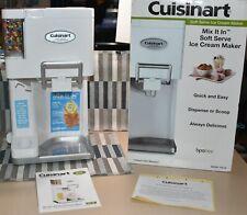 New Listingcuisinart Automatic Mix It In Soft Serve Ice Cream Maker Countertop New
