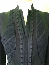Victorian Steampunk Cosplay Black Corset Goth Burlesque Fitted Jacket S 8 10