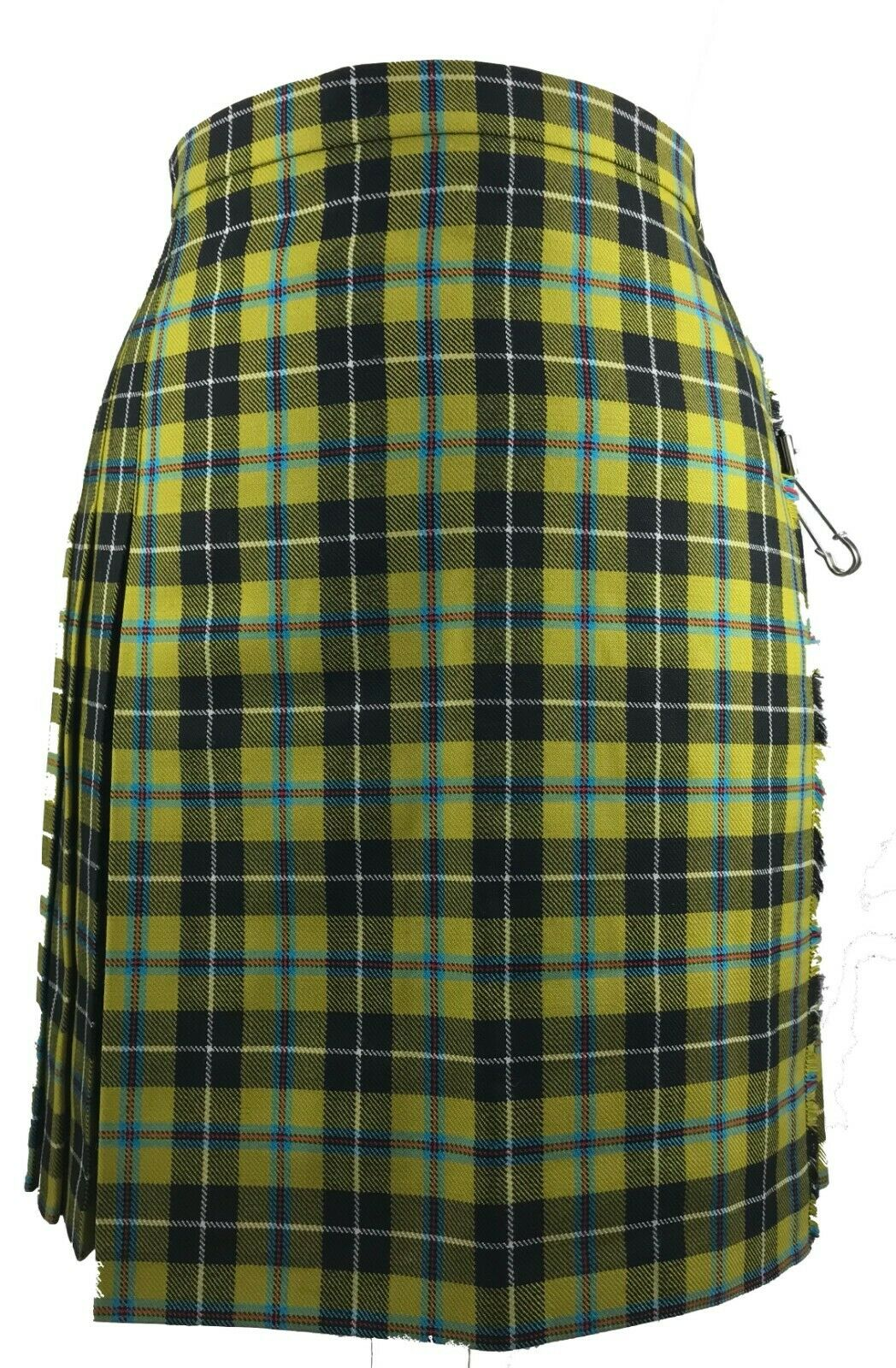 Ladies Kilt 100% Pure Wool Cornish National Tartan Knee Length Design New