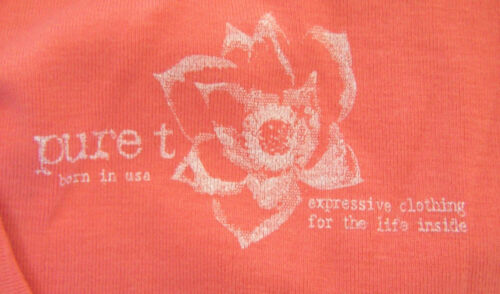 new $42 PURE T MATERNITY SHIRT xl CUTE CORAL TANK TOP