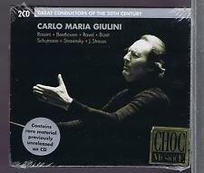 CARLO MARIA GIULINI  2 CDs GREAT CONDUCTORS OF THE 20TH CENTURY