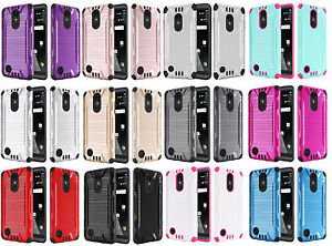 Details about Combat Hybrid Case Phone Cover for LG Rebel 2 LTE L57BL L58VL  / LG Fortune M153