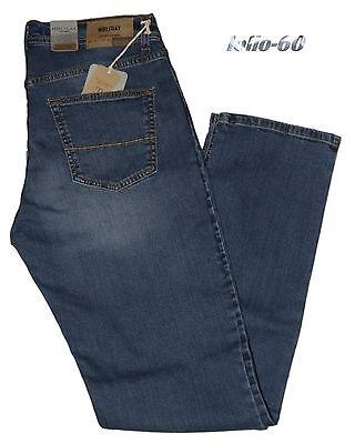 Jeans uomo Taglia 54 HOLIDAY pantalone elasticizzato blu delavè comodo novità